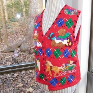 Sweaters - Tacky Teddy Bear Christmas sweater small